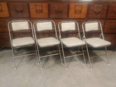 VTG Samsonite Padded Folding Chairs CLEAN - Set of 4  MCM  Card Table Style 6875