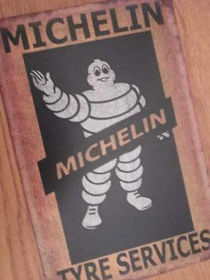 Metal Vintage Advertising Sign Retro Garage Wall Plaque Michelin Tyre Services
