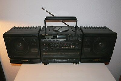 Sharp Gx-Cd60H =>> Weltempfänger Radiorecorder Ghettoblaster Radio Vintage Rar