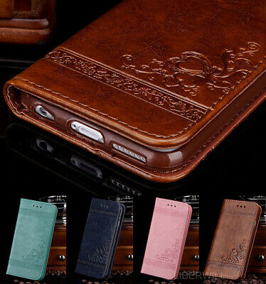 For Samsung Galaxy S8 S9 Plus S7 Luxury Leather Magnetic Wallet Phone Flip Case