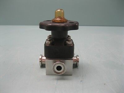 "3/4"" x 3/4"" x 1/2"" ITT Pure-Flo SS Sanitary 3-Way Diaphragm Valve L8 (2427)"