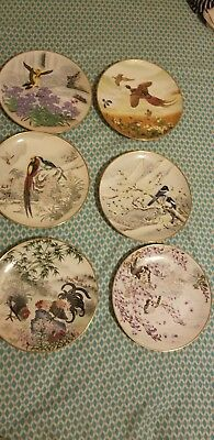 6 Japanese Porcelain Hand Painted Plates