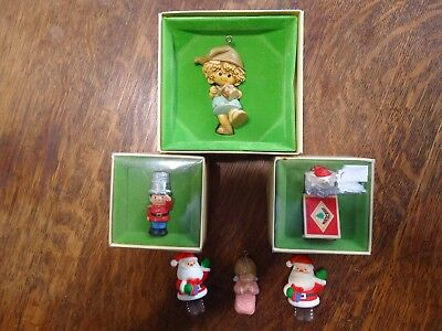 Lot-6 =Hallmarks Tree Trimmers Vintage Used Collectibles Some Boxes