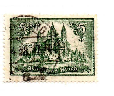 1924-7 high values 5 marks Speyer cathedral used Mi 367X cat €20