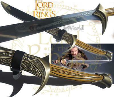 LOTR Lord of Rings Hobbit Orcrist Blade Sword of Thorin Oakenshield w. Scabbard
