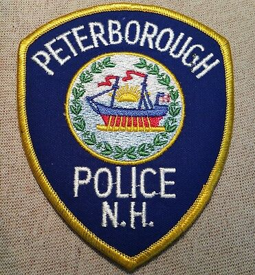 NH Peterborough New Hampshire Police Patch