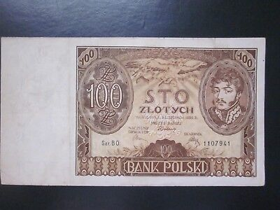Poland 100 zlotych 1934 nice old note