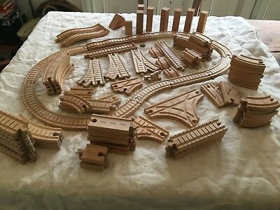 Thomas The Tank Engine Lots Of Wooden Track, inc Clickety Clack & Risers.