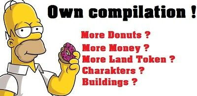 Simpsons Tapped Out - Own compilation - Donuts - Money - Land Token - Charakters