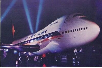 SIA Boeing 747B Jumbo Jet - SINGAPORE AIRLINES issued/mailed POSTCARD 1975