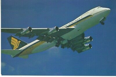 SIA - Boeing 747 Jumbo Jet - SINGAPORE AIRLINES issue POSTCARD