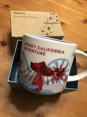 Exclusive Starbucks You Are Here Disneyland California Adventure Mug NEW
