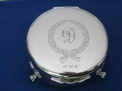 Birks Sterling Jewelry Footed Box Nice