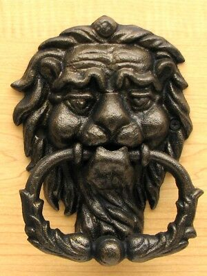 Lion Head Door Knocker - Vintage / Cast Iron / Architectual / Antique / Rustic