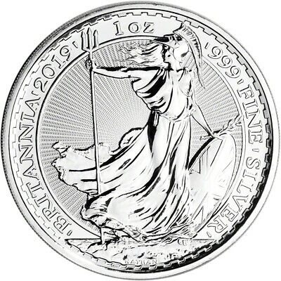 2019 Great Britain Silver Britannia £2 - 1 oz - BU