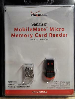 SanDisk SDDR-121-A11M MobileMate Micro Memory Card Reader (Red/Black)