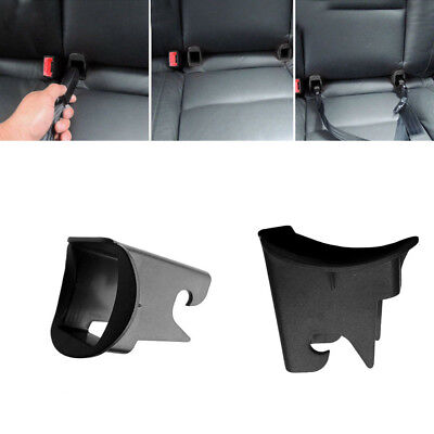 1 Pair Durable Car Baby Seat ISOFIX Latch Belt Connector Guide Groove ABS Black