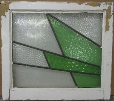 """OLD ENGLISH LEADED STAINED GLASS WINDOW Awesome Geometric Design 21.25"""" x 19"""""""