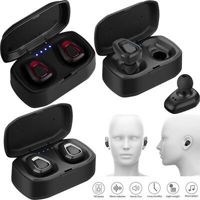 TWS True Wireless Earbuds Headset Bluetooth Stereo Headphones for iPhone XS MAX