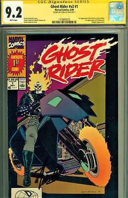 Ghost Rider #1 Cgc 9.2 Signed By Stan Lee! 1St Dan Ketch As Ghost Rider!