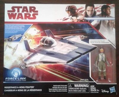 HASBRO STAR WARS: Force Link Resistance A-Wing Fighter With Pilot Tallie