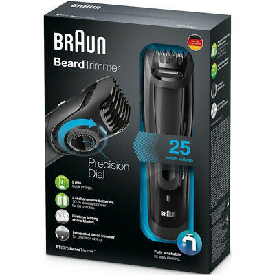 Braun BT5070 Men's Beard Trimmer, Cordless & Rechargeable, 1 count Each