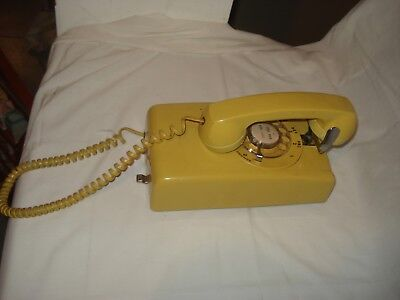 Bell Yellow Wall Rotary 1980 Telephone Harvest Gold