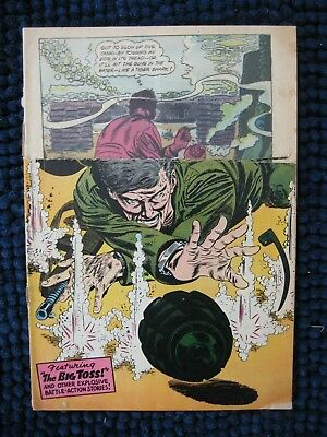 Our Army at War #63 SILVER AGE 1957 DC war comic LOGO CUT READER FAIR(1.0)