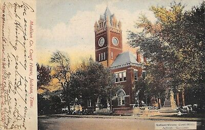Jackson Tennessee~Madison County Court House~Cannon~Confederate Monument~1906