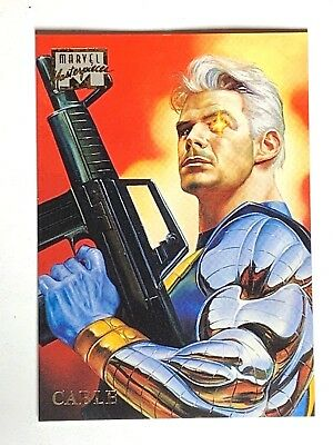1996 Fleer Marvel Masterpieces Cable #6 Trading Card
