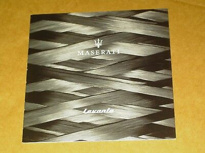 2018 Maserati Levante Brochure 8 Pages Nice!