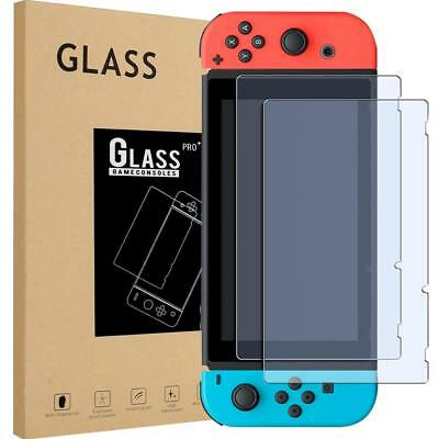 2-Pack Tempered Glass Screen Protector Film Guard Hard Cover For Nintendo Switch