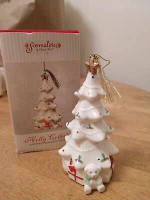 "Formalities Porcelain ""Christmas Tree""  Ornament by Baum Brothers Christmas"