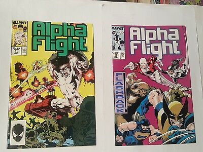 alpha flight # 51, 52, 1987