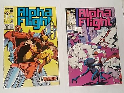 alpha flight # 53, 54, 1987