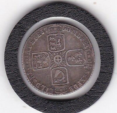 1758   King  George  II  Sixpence  (6d)  Silver  (92.5%)   Coin