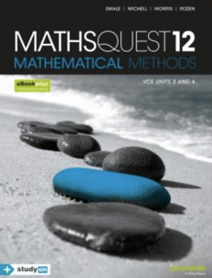 Maths Quest 12 Mathematical Methods VCE Units 3 & 4 PDF Textbook *FAST DELIVERY*