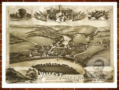 Pennsylvania Old Wall Art Decor Vintage Style Printed Attractive Display Quality