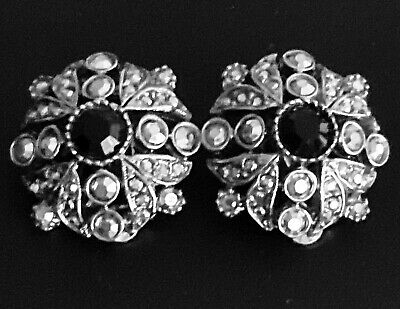 Collectible Vintage 1940's-1960's Sparkling Vintage Earrings by ART, Clip-ons