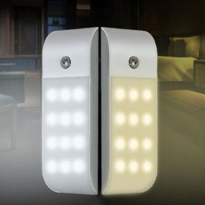 Rechargeable USB 12 LED PIR Sensor Induction Night Light Cabinet Lamp & Stick