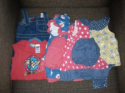 Baby girls summer clothing (Size 0 / 6-12 months) Preowned 5 items