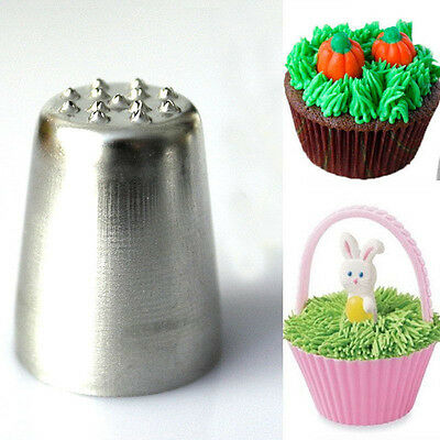 Grass Hair Icing Piping Nozzle Tip Cupcake Cake Decorating Pastry Tip Tool CA