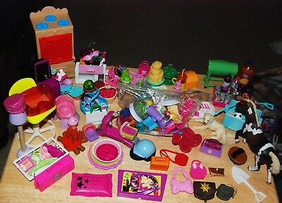 Huge Lot Of Barbie Dolls Furniture & House Hold Kitchen Accessories 250 + More