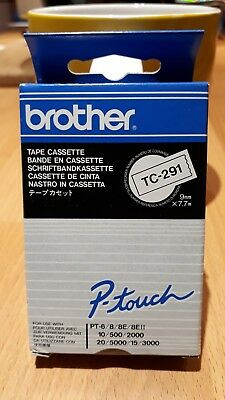 Brother label printer cartridge tc-291 New Original in box Black text on White