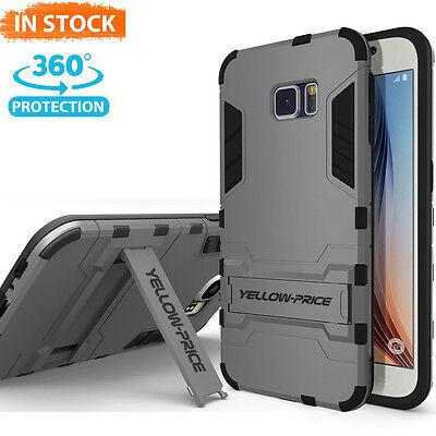 Fit Samsung Galaxy S6 Protective Case Armor [Built-in Stand+Anti-Shock Cover]