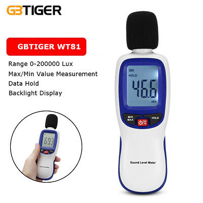 WT81 Digital Luxmeter Measurement LCD Light Meter Tester Luminometer 0-200000Lux