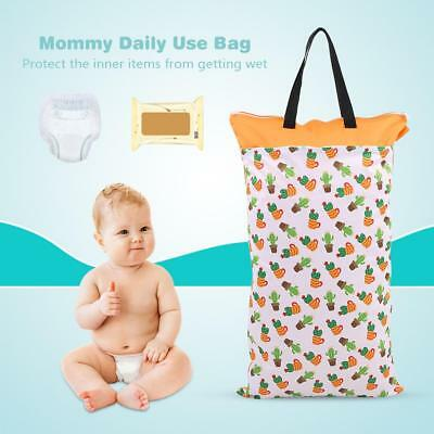 Baby Bed Large Hanging Wet/Dry Diaper Pocket Inserts Laundry Nappy Storage Bag