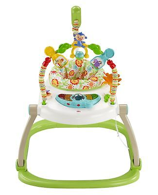 Fisher Price Rainforest Friends Spacesaver Jumperoo Baby Activity NEW