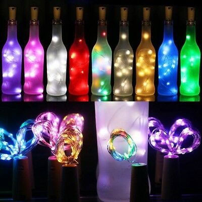 2m 20LED Wine Bottle Cork Shaped String Fairy Lights Night Lamp Bar Decor Hot