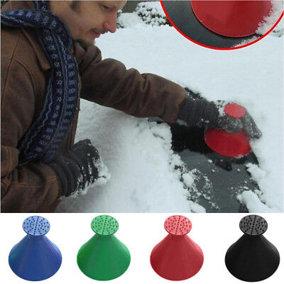 Large Round Cone Car Windshield Ice Scraper Snow Remove Scraper Funnel Scraper